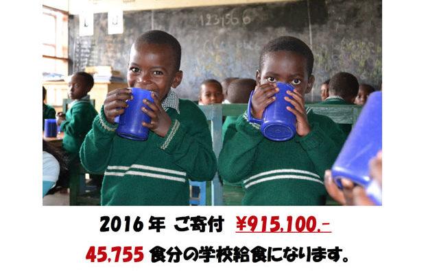 45755食分の学校給食分を寄付